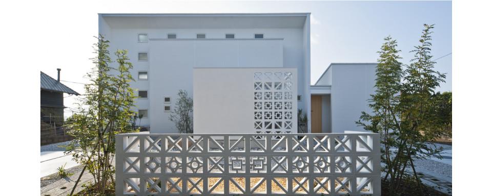 花ブロックの家
