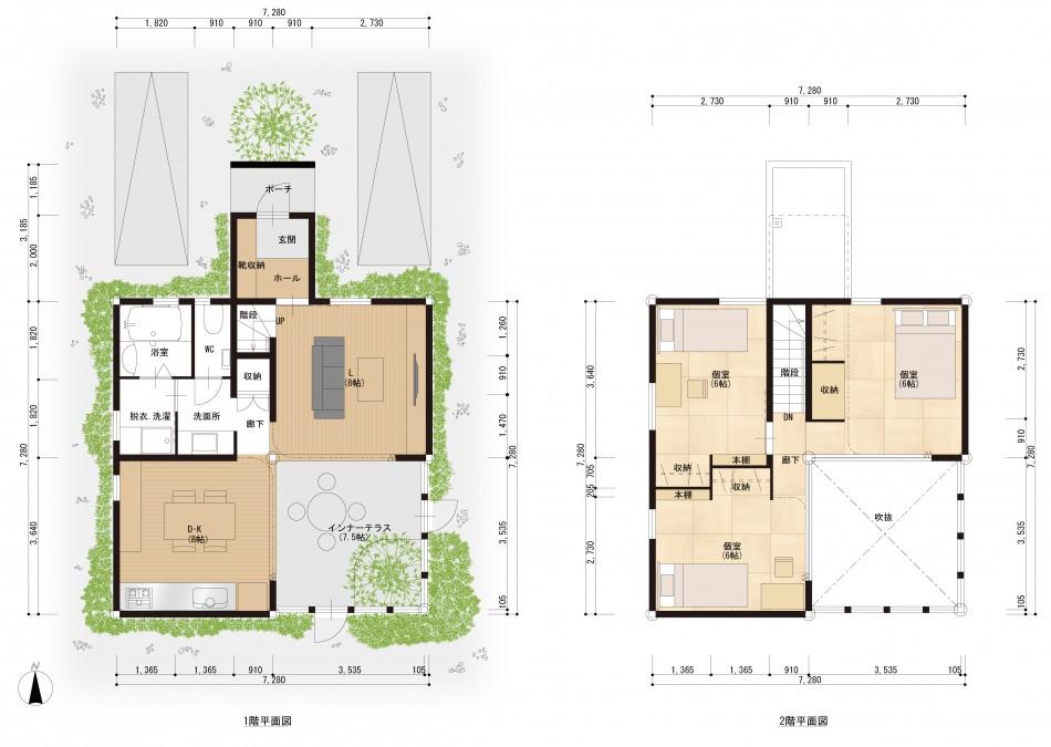 夢みるローコスト住宅 平面図